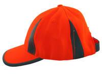 Jaskrawa, pomarańczowa czapka z odblaskami