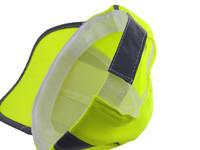 Jaskrawa, żółta czapka z odblaskami